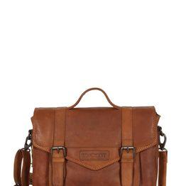 Hill Burry cross body δερμάτινη τσάντα καφέ με καπάκι - vb100147-3348