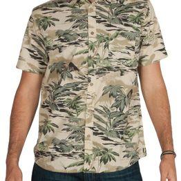 Anerkjendt Epic κοντομάνικο πουκάμισο μπεζ-πράσινο - 9218055