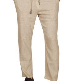 Anerkjendt Bard linen-mix ανδρικό παντελόνι μπεζ - 9218603-bei