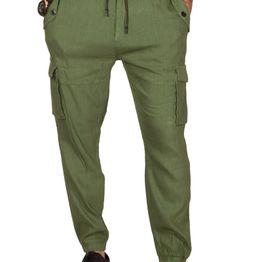 Anerkjendt Bronx cargo jogger παντελόνι χακί - 9218601-kh