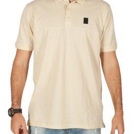 Anerkjendt Daud ανδρικό polo t-shirt πικέ εκρού - 9218318