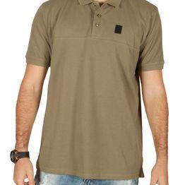 Anerkjendt Daud ανδρικό polo t-shirt πικέ χακί - 9218318-kh