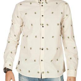 Anerkjendt Konrad πουκάμισο εκρού με κέντημα - 9218026