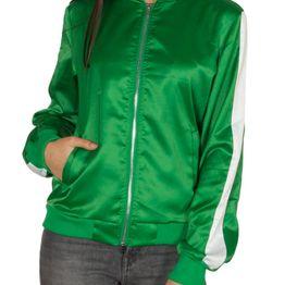 Daisy Street γυναικεία αθλητική bomber ζακέτα πράσινη - dst-60-gn