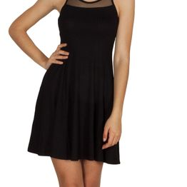 LTB Loneco μίνι φόρεμα μαύρο με δικτυωτή πλάτη - 83025-blk