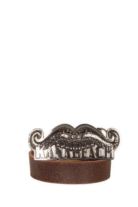 Kanabeach Moustache δερμάτινη ζώνη καφέ - x4cuse1