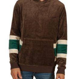 Anerkjendt Nigel βελουτέ μπλούζα καφέ με κουκούλα - 9518704