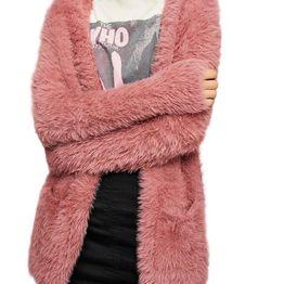 Free People faux fur ζακέτα σκούρο ροζ - ob816577