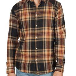 Anerkjendt Hallow πουκάμισο φανέλα καρό μαύρο-μπρονζέ - 9518017