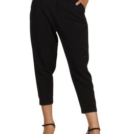 Lotus Eaters Martha cropped jogger style παντελόνι μαύρο - le-martha
