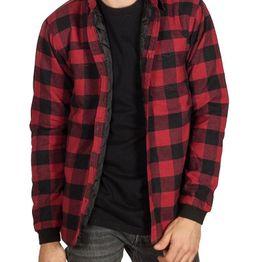 Anerkjendt Harbor καρό πουκάμισο κόκκινο-μαύρο - 9518019
