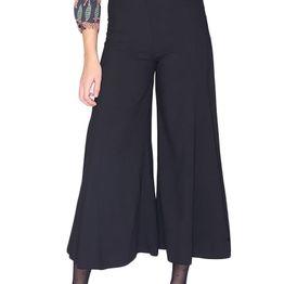 Pepaloves Carla crop παντελόνα μαύρη - 109021