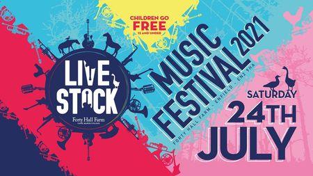 poster or flyer advertising event Livestock Music Festival