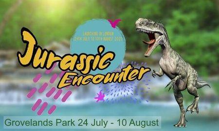 poster or flyer advertising event Jurassic Encounter in Grovelands Park