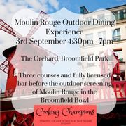 Enjoy a Moulin Rouge outdoor dining experience!