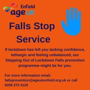 Stepping out from lockdown - Age UK Enfield's falls stop service