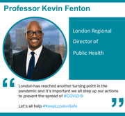 A message from the London Regional Director of Public Health