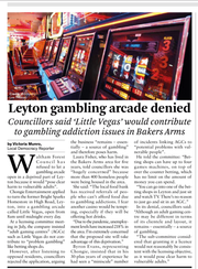 New gambling arcade successfully fought off... in Waltham Forest