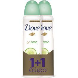 Dove Spray Go Fresh Αποσμητικό Γυναικείο 150ml 1+1 Δώρο