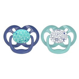 Dr Browns Advantage Πιπίλα Σιλικόνης Μπλε - Πράσινο 6-18 Μηνών 2 Τεμάχια PA22002