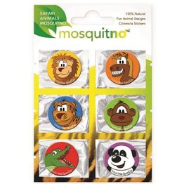 MosquitNo Trendy Citronella SpotZzz Safari Αυτοκόλλητα με Άρωμα Σιτρονέλλας σε Διάφορα Σχέδια & Χρώματα 1Τεμάχιο (6 Αυτοκόλλητα)