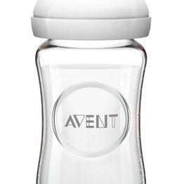 Avent Natural Γυάλινο Μπιμπερό Χωρίς BPA 1m+ 240ml SCF053/17