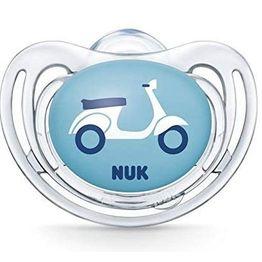 Nuk Freestyle Πιπίλα Σλικόνης - 0-6 Μηνών Διάφανο Αγόρι