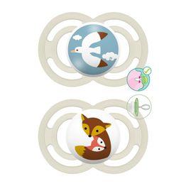 Mam Perfect Ορθοδοντική Πιπίλα Σιλικόνης Κωδ 221S από 6 Έως 16 Μηνών 2 Τεμάχια - Άσπρο - Άσπρο 2