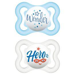 Mam Air Happy Thoughts Ορθοδοντική Πιπίλα Σιλικόνης Κωδ 120S από 2 Έως 6 Μηνών 2 Τεμάχια - Γαλάζιο - Διάφανο