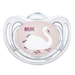 Nuk Freestyle Ορθοδοντική Πιπίλα Σιλικόνης 1 Τεμάχιο - 6-18 Μηνών Διάφανο Κορίτσι