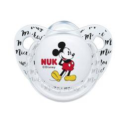 Nuk Trendline Disney Mickey Mouse Πιπίλα Σιλικόνης με Κρίκο 1 Τεμάχιο - 6-18 Μηνών Διάφανη