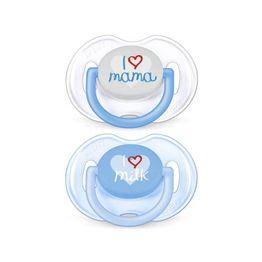 Avent Μοντέρνα Πιπίλα Σιλικόνης 0-6m Μηνών 2 Τεμάχια για Αγόρι SCF172/51
