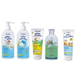 Pharmagoods Πακέτο Προσφοράς - Frezyderm baby Shampoo Βρεφικό Σαμπουάν με Αντλία (300ml)- baby bath (300ml) - baby cream (175ml) - hydra milk (200ml) & Baby Sun Care SPF25 (100ml)