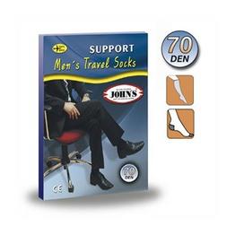 JOHN'S® ΚΑΛΤΣΕΣ Κάτω Γόνατος ΑΝΔΡΙΚΕΣ 70 den (10-14mmHg) ΜΑΥΡΟ - Size :-5 - Shoes size : 45-46 - Κωδικός: 2145128