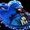 ANTRIN Κοριτσίστικη Παντόφλα 30-6075 Σιέλ – Μπλε – 30-6075 AZUL-ANTRIN-blue-30/4/10/62