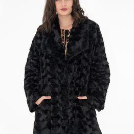 Μαυρό γούνινο πανωφόρι
