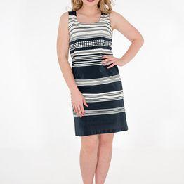 Μπλε λευκό ριγέ φόρεμα