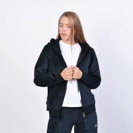Body Action Velour Hoodie Jacket - Γυναικεία Ζακέτα (9000041213_1899)