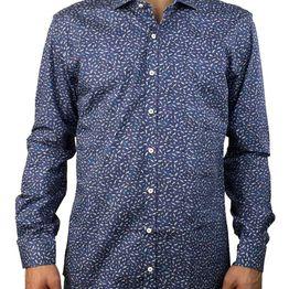 Firenze μπλε πουκάμισο με σχέδια 016 5902B