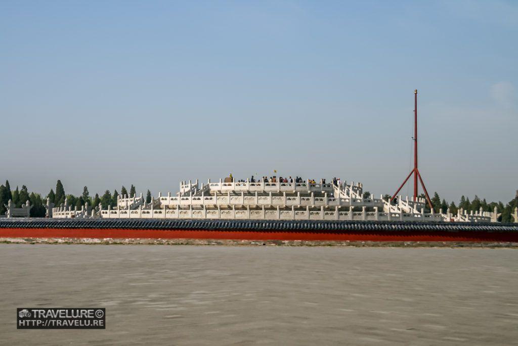 The circular mound altar resembles a ship on high seas