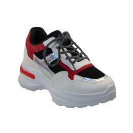 Renda 2018-29 Γυναικείο Sneaker Από Τεχνόδερμα Λευκό
