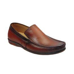 Tsimpolis Shoes 529 Slip On Απο Γνήσιο Δέρμα Ταμπά