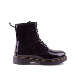 Tsimpolis Shoes SJ521-1 Γυναικείο Αρβυλάκι Από Τεχνολουστρίν Μαύρο
