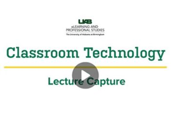 Lecture Capture still available this Summer