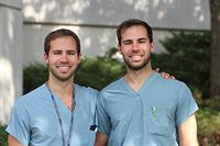 Identical twin brothers will share rotation at Highlands Hospital in early 2019