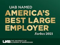 UAB named America's No. 1 Best Large Employer 2021 by Forbes