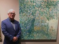 Artist experiences high point of career following corneal transplant