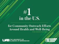 UAB ranked first in U.S., seventh in the world by Times Higher Education for community outreach efforts around health and well-being