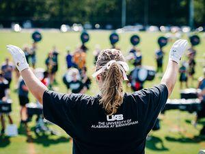 All-women drum major team leads 2021 UAB Marching Blazers