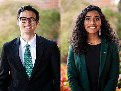 Sumedha Bobba and Banks Stamp are Mr. and Ms. UAB 2022